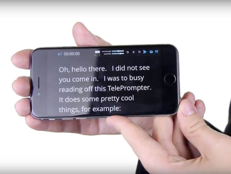 Teleprompter Software On Smart Phone