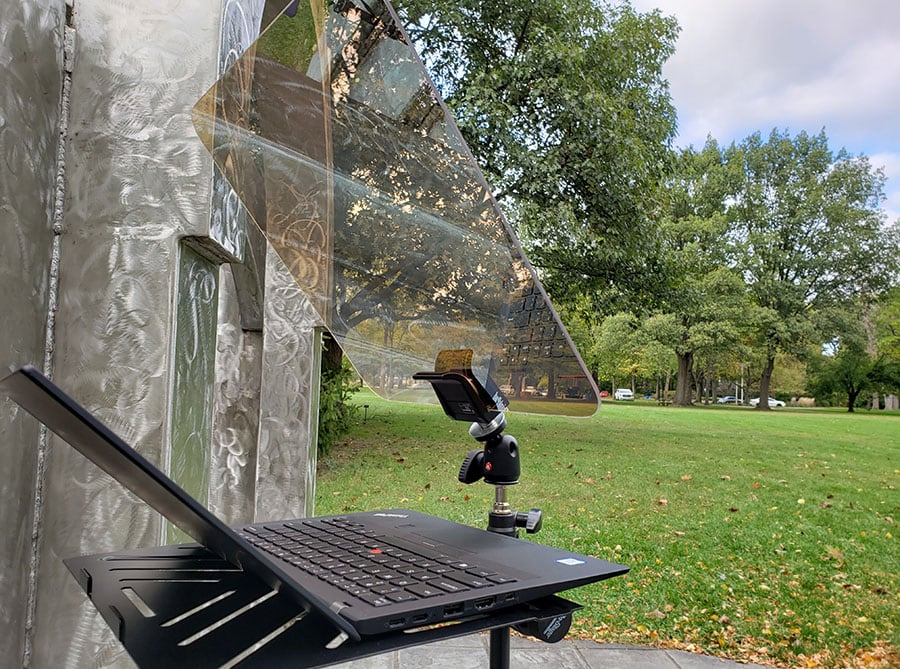 Outdoor Teleprompter Mirror