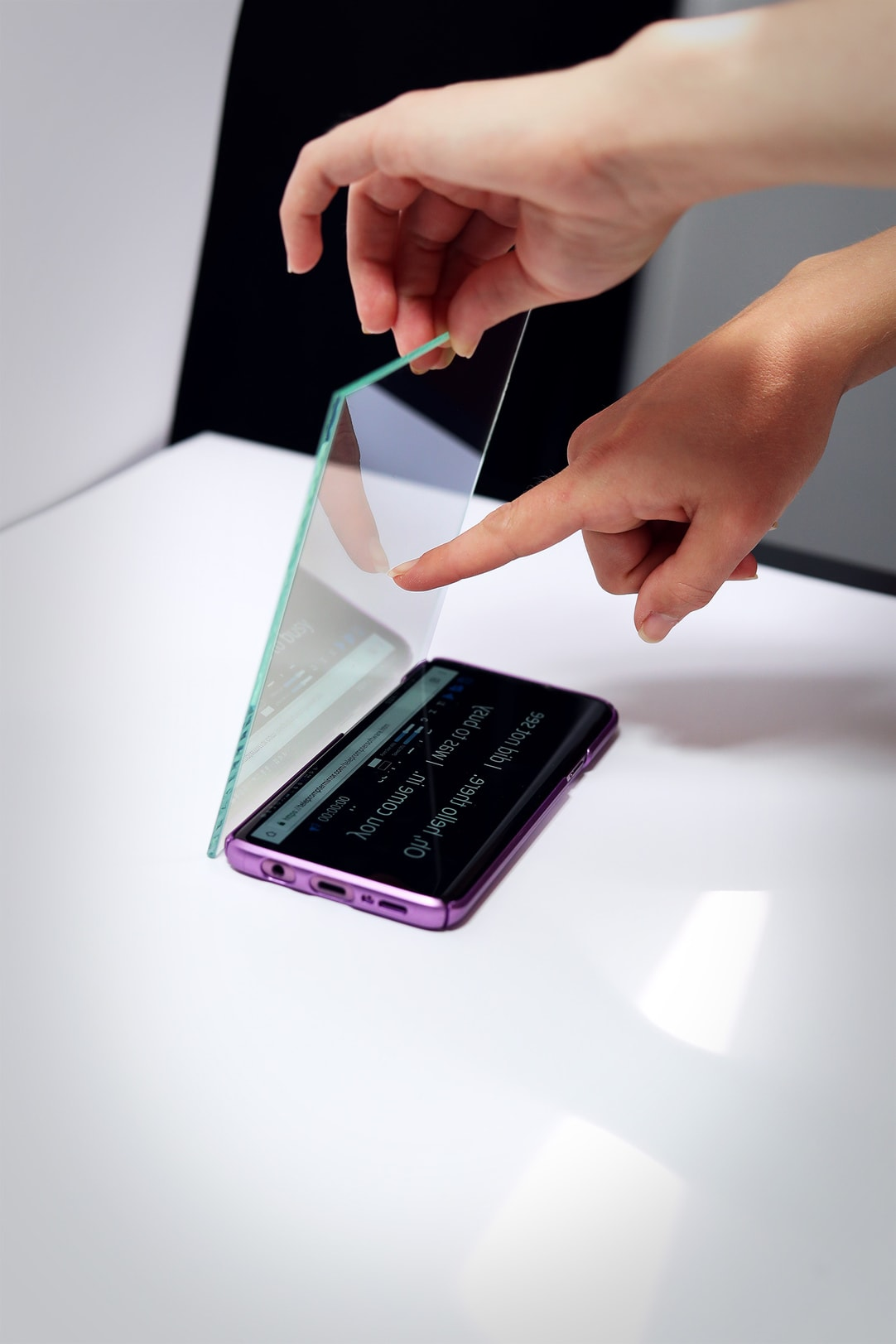 Small Teleprompter Phone