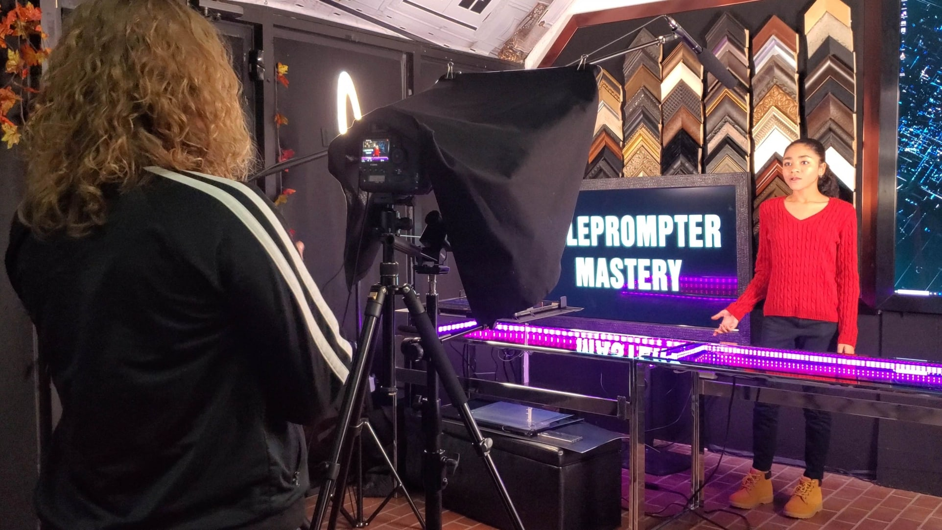 Using a Teleprompter to Record a Video